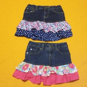 EUC 2 pair The childrens  place Girl Skirts 6/7